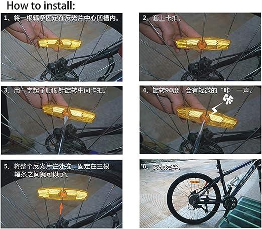 changzhou - Reflectores de bicicleta, reflectores de seguridad para radios de bicicleta, color blanco, tamaño S: Amazon.es: Jardín