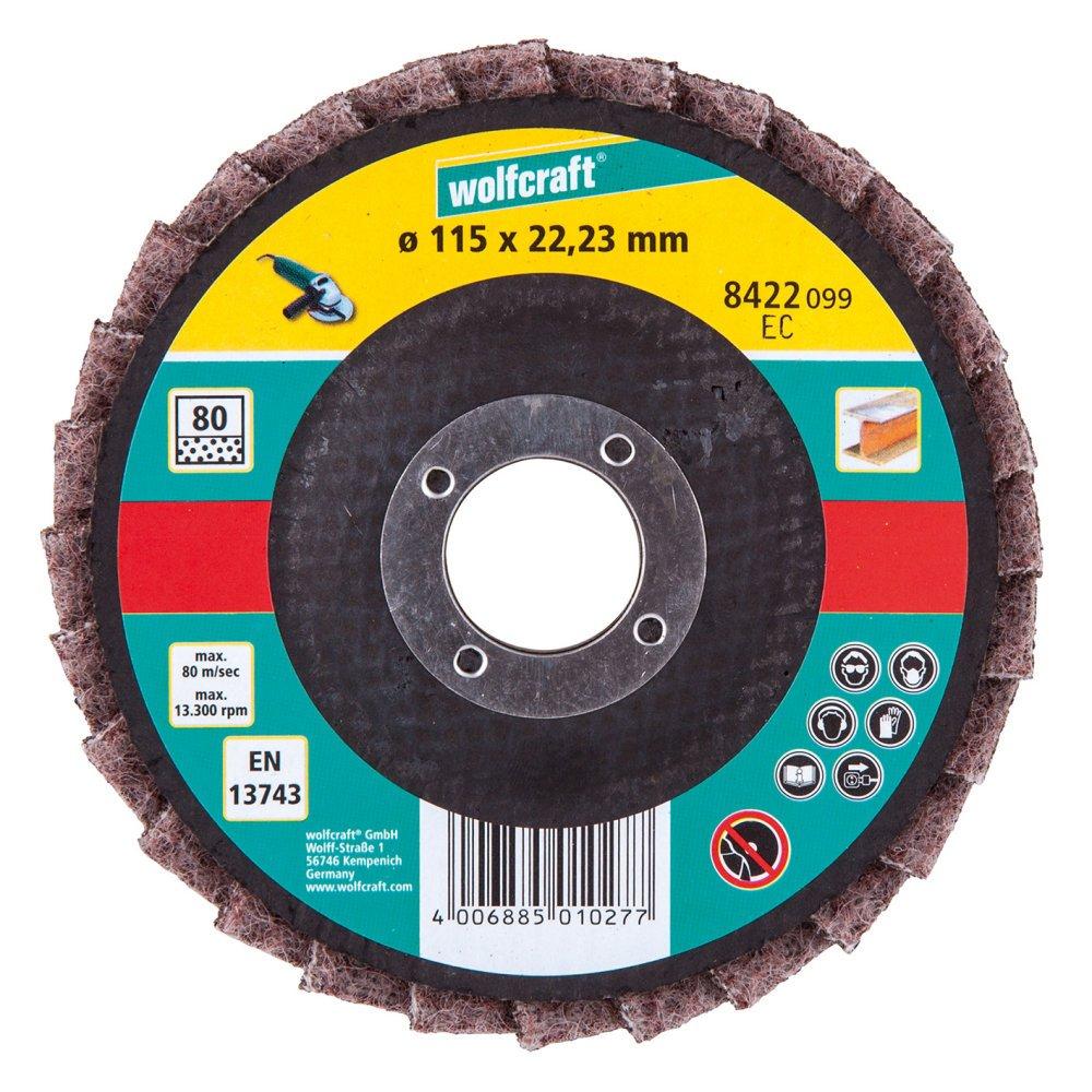 Wolfcraft 8422099 Disque lamelle fibre pour Meuleuse G80 ø 115 vrac