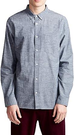 Element - Camisa - Hombre - XS - Azul: Amazon.es: Ropa y accesorios