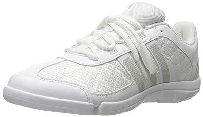 adidas Women s Triple Cheer Cross-Trainer Shoes White Sharp Light Grey 85b3de782