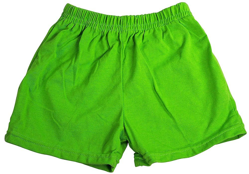 Private Label Little Girls Jersey Knit Gym Shorts, Green 38951-3T