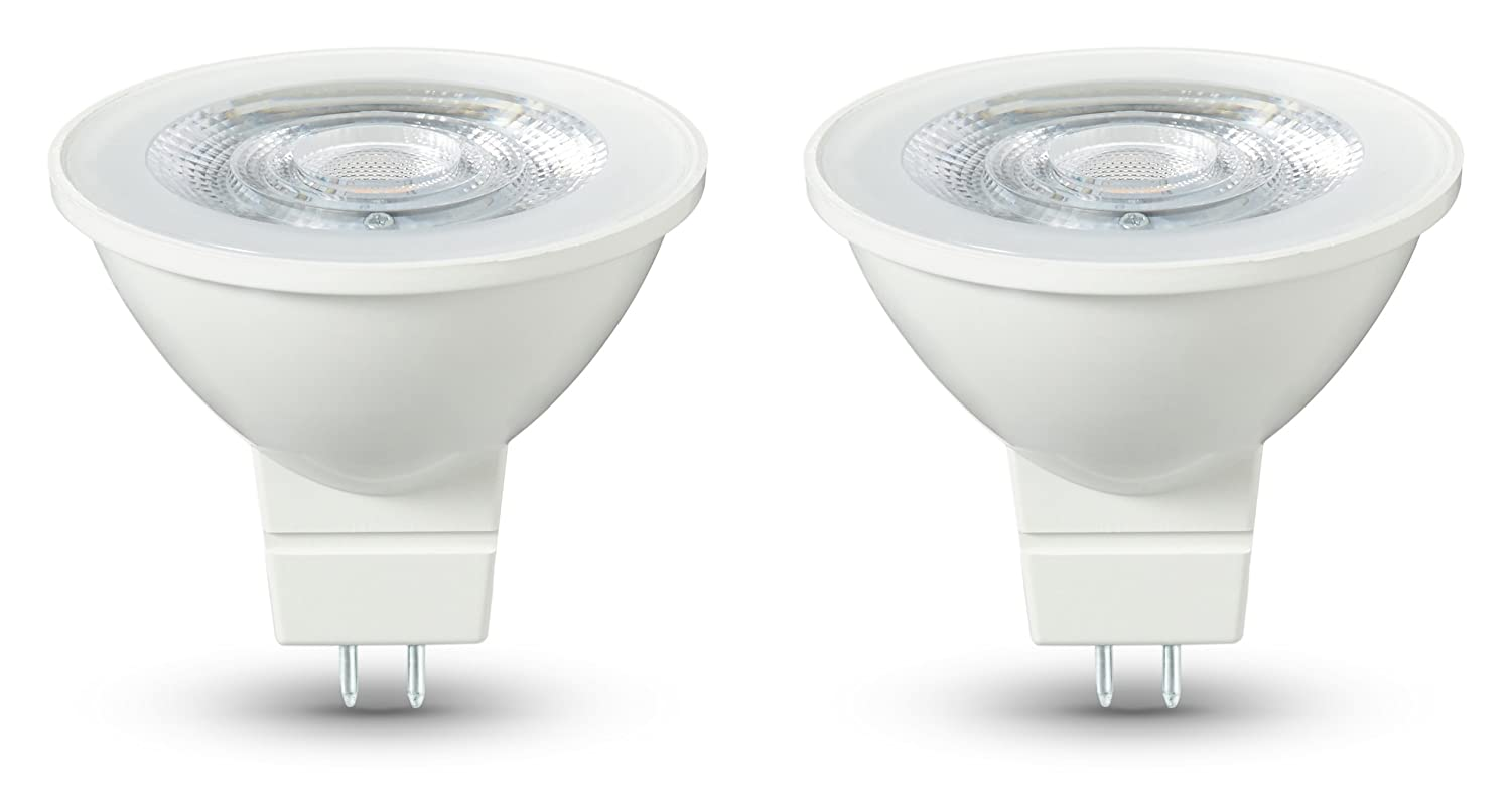 Basics - Bombilla LED GU5.3, 4,5 W equivalente a 35 W, 345 lú menes, no regulable - 2 unidades 345 lúmenes 35W GU5.3 WW 36D ND 2PK
