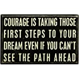 "Primitives by Kathy 18759 Box Sign, 8"" x 5"", Courage Is"