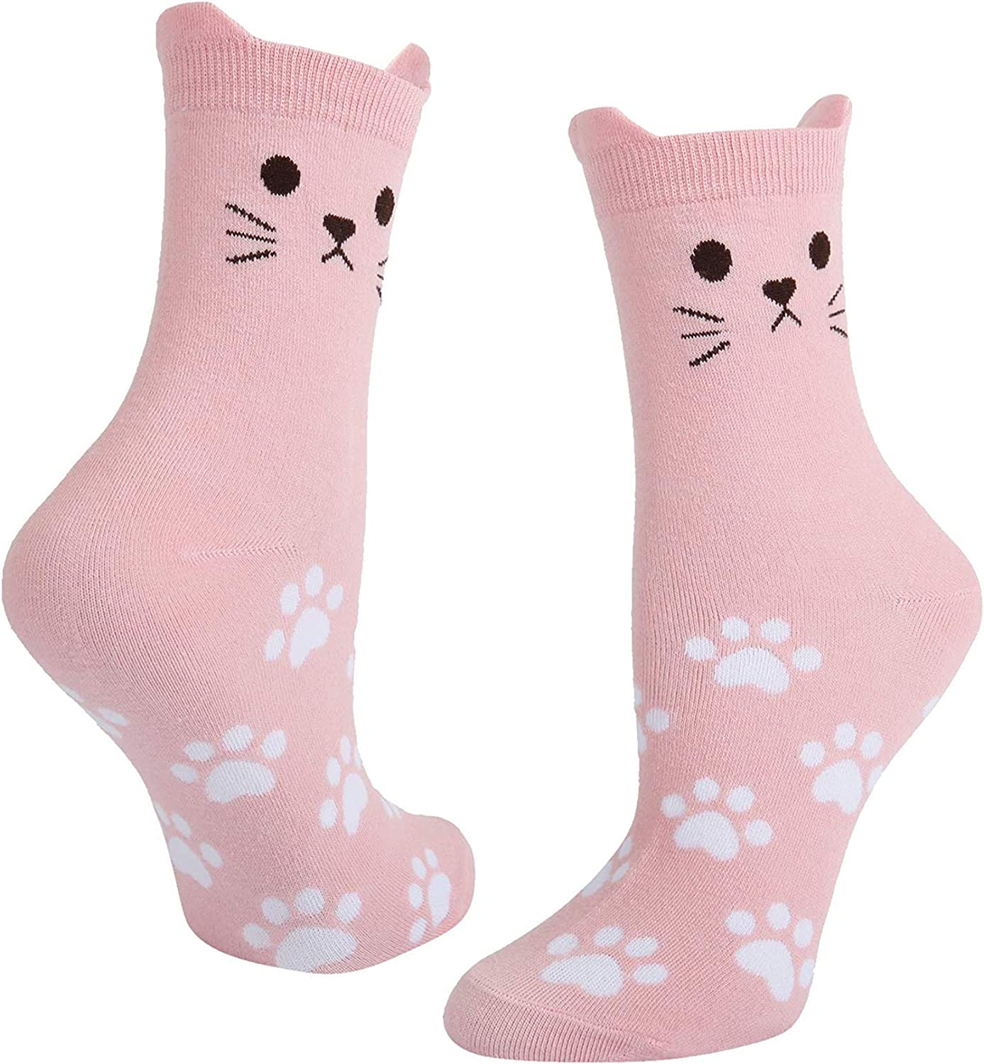 SOCKFUN NoveltyCute Cat Animals Colorful Socks Value Pack Gift for Girls