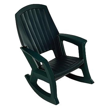 Hunter Green Outdoor Rocking Chair   600 Lb. Capacity