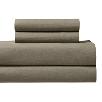 Heavyweight Flannel 100% Cotton Sheet Set  King, Taupe, 4PC Bed Sheets 170