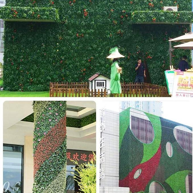 Xiaolin Coberturas Paneles Artificiales Verdor Paneles Cercados Verdor Paredes Jardín Pantalla de Privacidad Decoración para el hogar (Color : 01): Amazon.es: Hogar