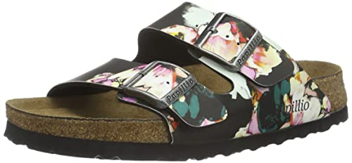 026083dfb93360 Birkenstock Arizona Narrow Fit - Painted Bloom Black Soft 1000620 (See  Description for Size)