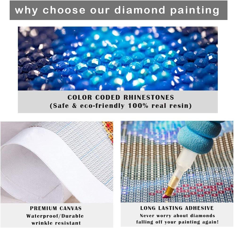 12x16inch//30x40cm NEILDEN DIY 5D Diamond Painting Kits for Adults Horse Round Full Drill Gem Embroidery Painting Arts Craft for Home Wall Decoration