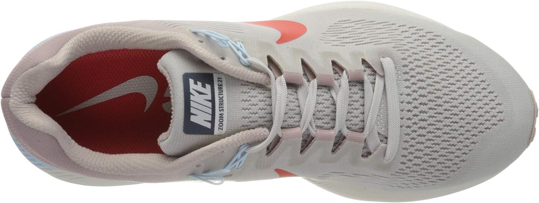 Nike W Air Zoom Structure 21, Zapatillas de Running para Mujer, Gris (Gris Vasto/Rojo Habanero/Element 006), 38 EU: Amazon.es: Zapatos y complementos