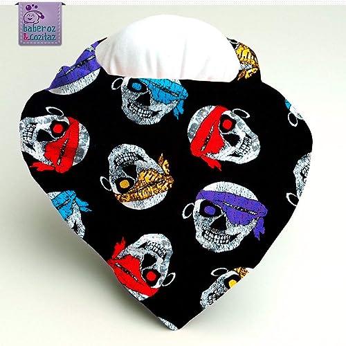 Babero bandana Calaveras pañuelo colores, para bebés, niños o adultos con necesidades especiales. P_78 ***Envío gratuito a España***: Amazon.es: Handmade