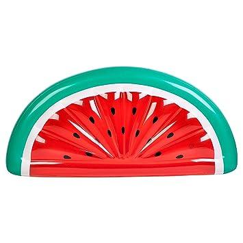 Flotador hinchable con forma de sandía (185 cm x 89 cm) de la marca SunnyLife: Amazon.es: Deportes y aire libre
