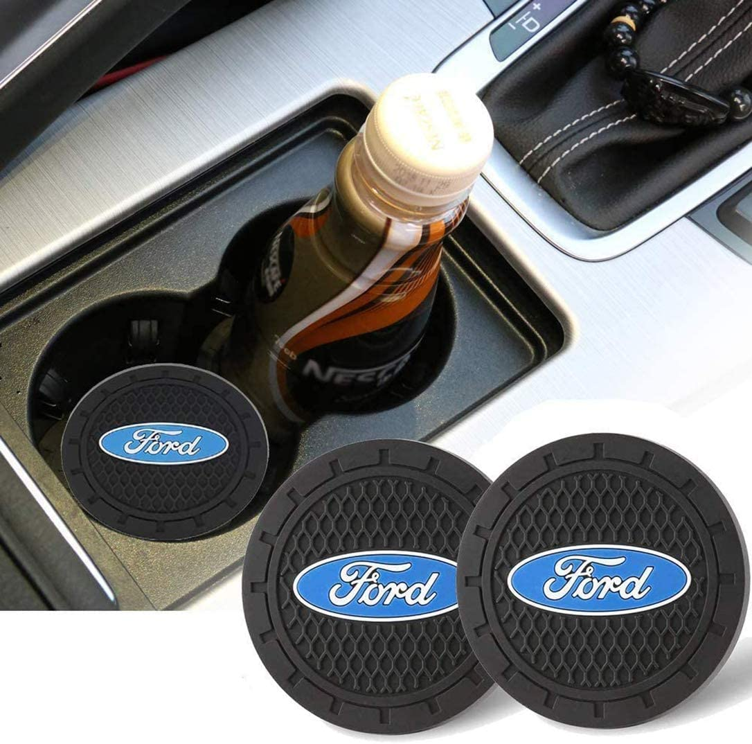 AllRing 2 x cup coasters rubber cup holder pad license plate logo for drinks car accessories for vehicle neoprene car coasters kitchen Acura mat home use office
