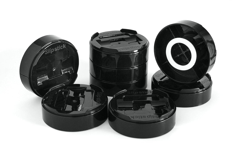 altura 2,5 cm, 5 cm o 7,5 cm, resistente Juego de 8 elevadores para muebles de cama Slipstick CB657 color negro