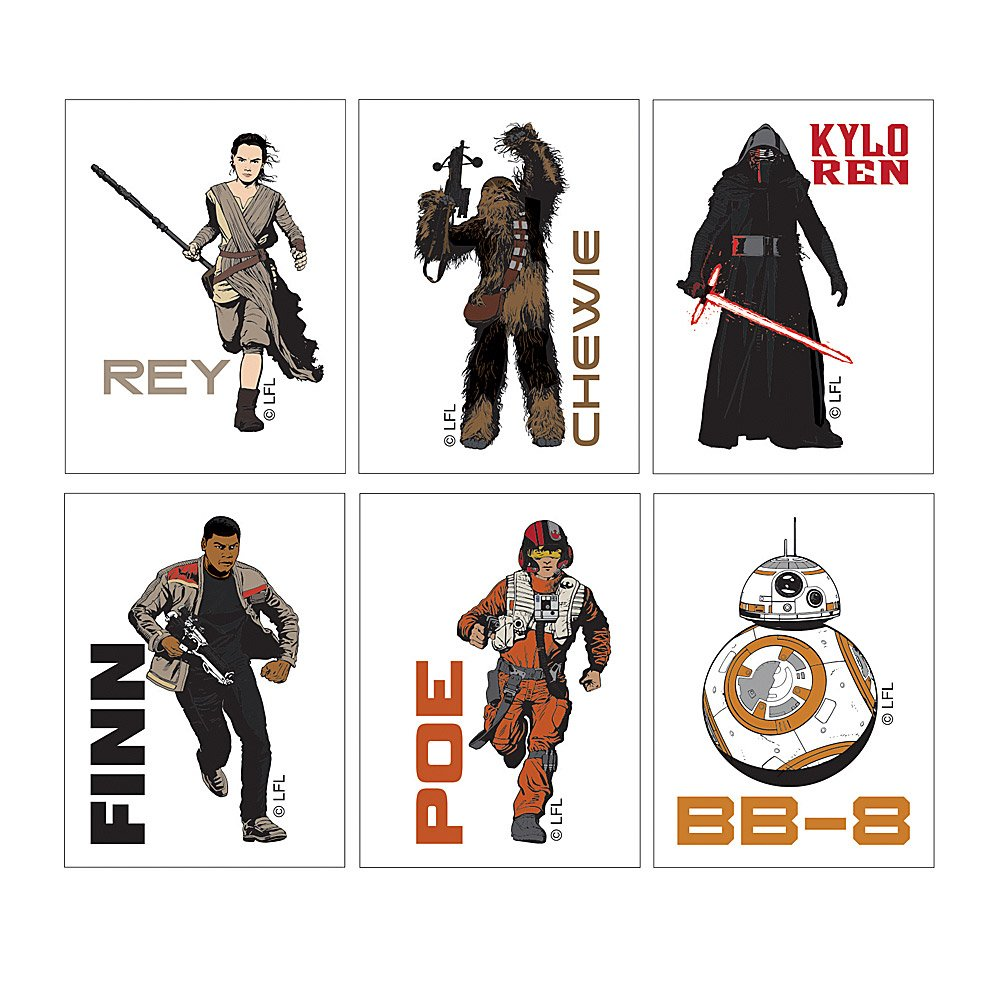 Star Wars: The Force Awakens Temporary Tattoos - Prizes 144 per Pack by SmileMakers (Image #2)