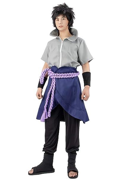 Dazcos Us Size Anime Uchiha Sasuke Cosplay Costume With Wristbands Rope