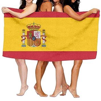 Colivy Toalla de Baño con Bandera de España, Deportes, Playa, Piscina, Muy Suave, Muy Absorbente: Amazon.es: Hogar