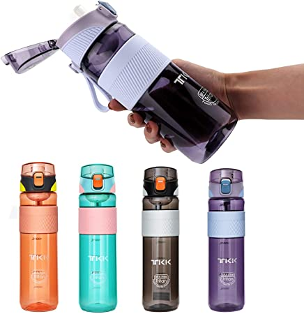 Sports Water Bottle with Straw or Spout, Reusable 18/20/24/26oz Water Bottle,Leak-proof Locking Cap,Suitable for Adults and Kids Running,Cycling,Fitness Outdoor