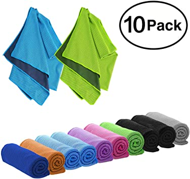 DARUNAXY 4pack Evaporative Cooling Towels 40