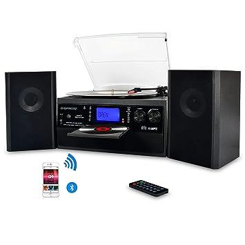 DIGITNOW! Tocadiscos Bluetooth Plato Giradiscos Plato Vinilo, CD ...