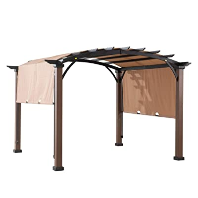 Sunjoy 110109020 Original Replacement Canopy for A+R Woodgrain Pergola (10X10 Ft) L-PG152PST-B Sold at Lowe's, Sesame: Garden & Outdoor