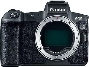 Canon EOS R Digital Camera Body With Mount Adapter EF-EOS R , 30.3 Mirrorless Camera, Black
