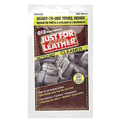 Blue Magic NA118 Just for Leather Cleaner Towelette - Single Pack: Automotive