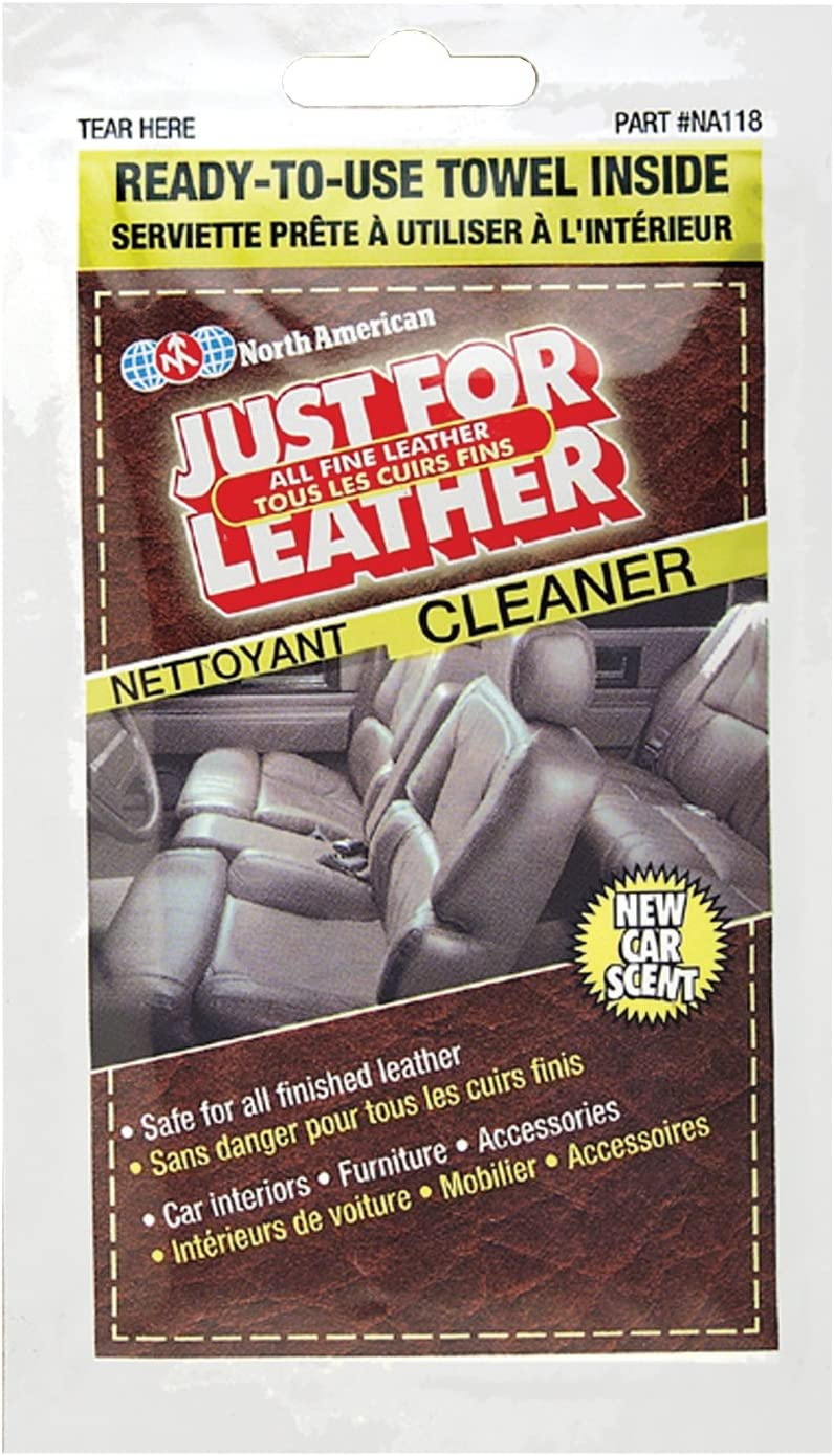 Blue Magic NA118 Just for Leather Cleaner Towelette - Single Pack