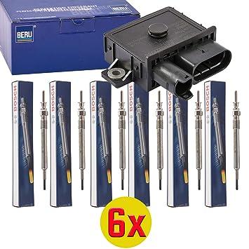 6 x Beru gse108 - Dispositivo de control, glühzeit + 6 x Bosch 0 250 603 006 - Bujía, duraspeed, Set: Amazon.es: Coche y moto
