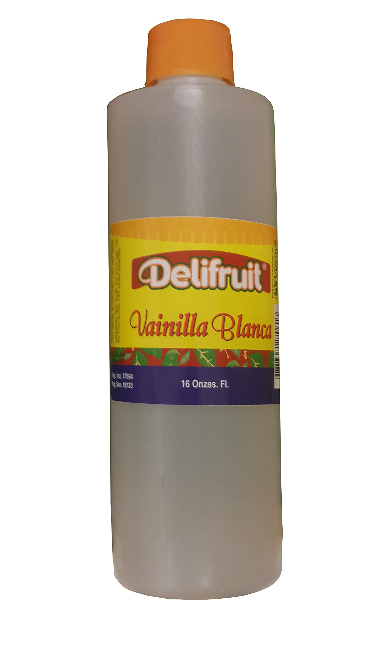 Delifruit Clear Vanilla Extract From Dominican Republic 16 Oz.