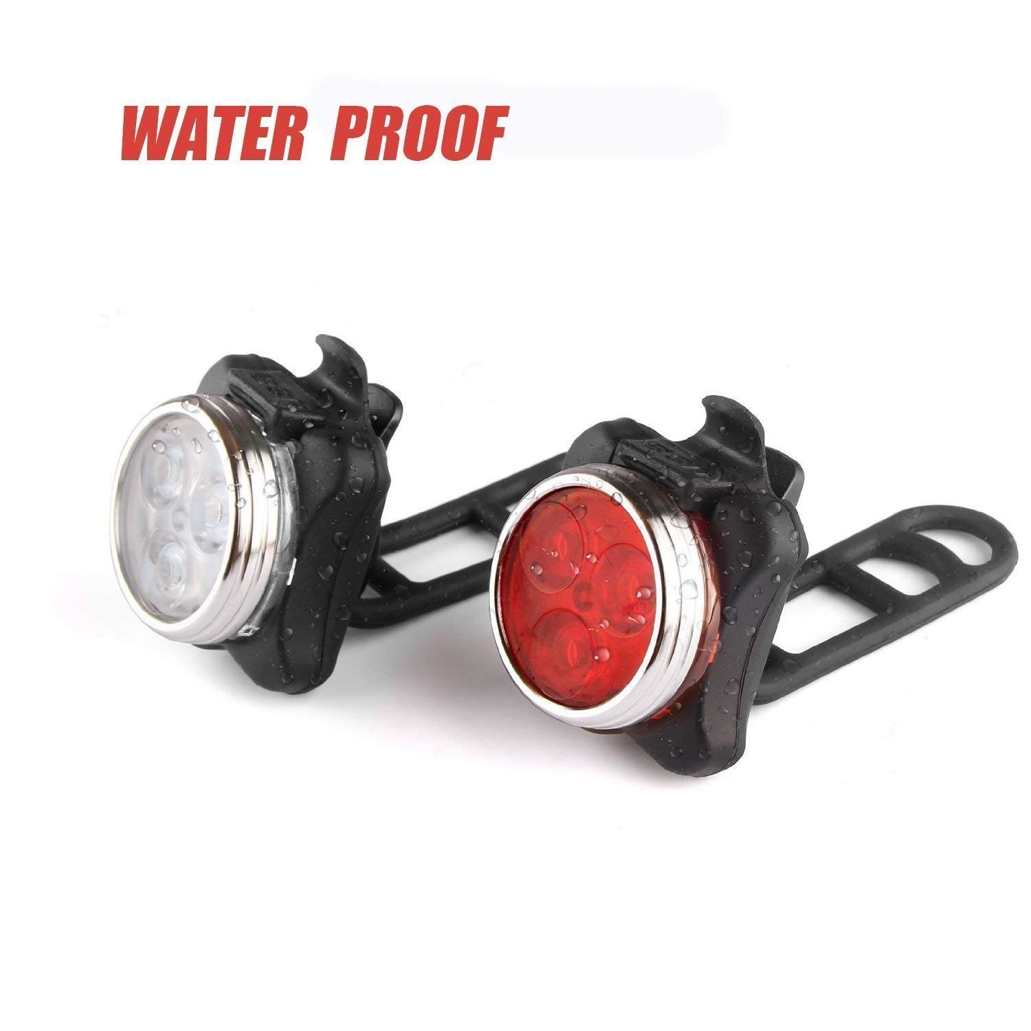 DUBUT21 Super Bright Bicycle Light Set USB Rechargeable Bike Headlight Free Tail Light Waterproof LED Bike Light Easy to Install Cycling Safety Commuter Flashlight Best Mountain Road City Bicycle by DUBUT21 (Image #4)