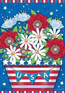 "Briarwood Lane American Planter Patriotic Garden Flag Primitive 12.5"" x 18"""