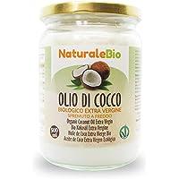 Aceite de Coco Ecológico Extra Virgen 500 ml. Crudo y prensado en frío. 100% Orgánico, Puro y Natural. Aceite bio nativo…