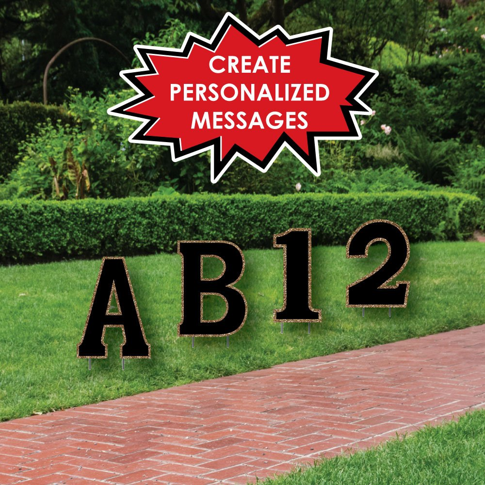 Amazon.com : Custom Yard Words - Personalized Letter & Number ...