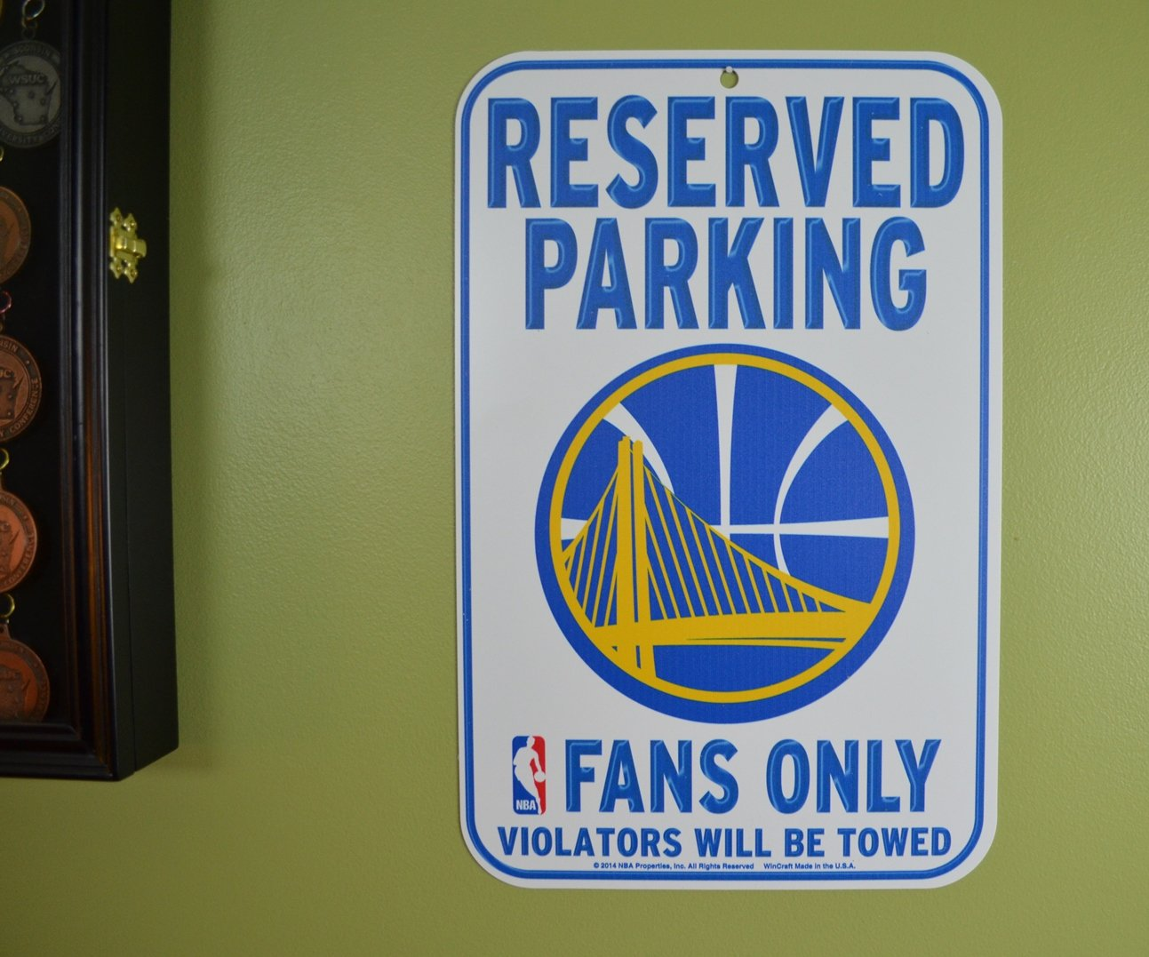 National Basketball Association 11-Inch-by-17-Inch Parking Sign, Golden State Warriors