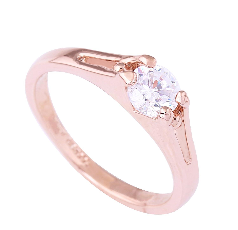 Acefeel 18K Rose Gold Zircon Women's Wedding Engagement Ring