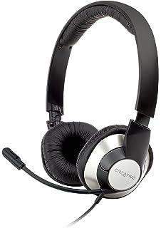 Creative Labs HS-720 - Auriculares con micrófono USB, negro y plata