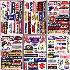 graphic racing sticker decal motocross atv dirt 6 sheets automotive. Black Bedroom Furniture Sets. Home Design Ideas