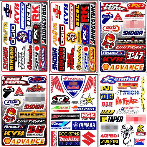 Graphic Racing Sticker Decal Motocross ATV Dirt 6 Sheets Motocross Graphics