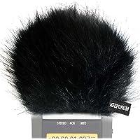 KEEPDRUM WS-BK Fell-Windschutz Windscreen Windshield für Digital-Rekorder Videomikrofon Handy-Recorder