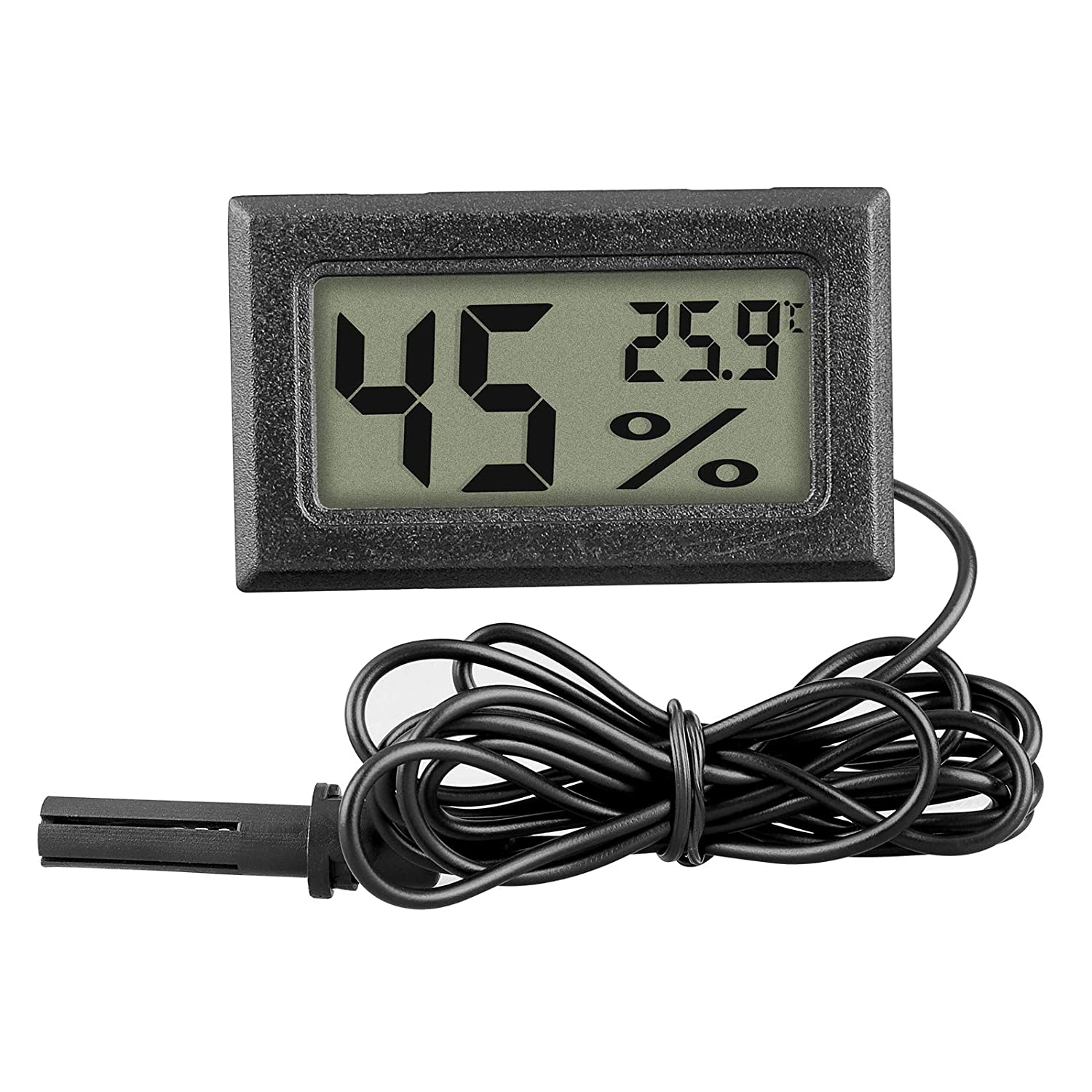 Linkstyle Mini Digital Thermometer Hygrometer Indoor Temperature Humidity Meter Gauge LCD Celsius (℃) Display (Humidity with Probe)