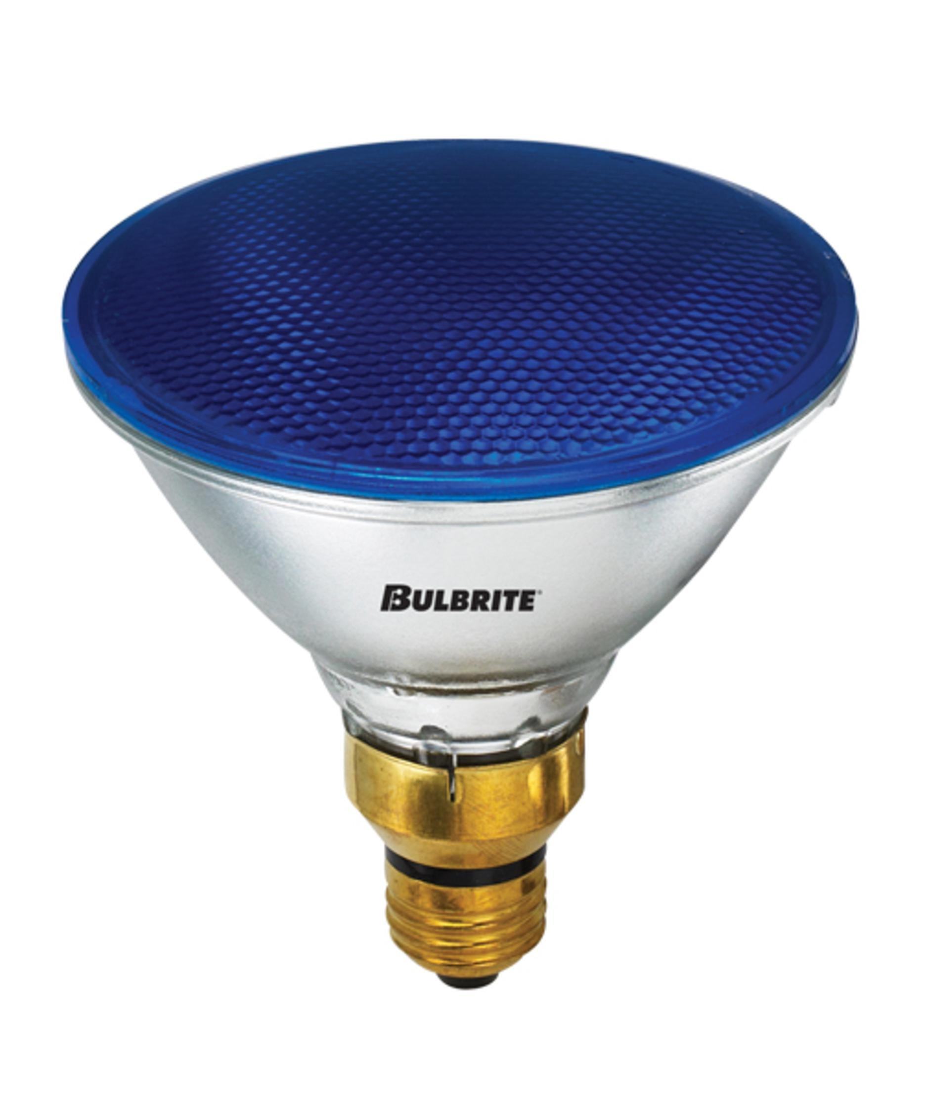 Bulbrite 683903 H90PAR38B 90 Watt PAR38 Halogen, Blue, Medium base, 120 volts (Pack of 8)