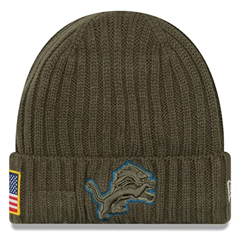 Image Unavailable. Image not available for. Color  Detroit Lions New Era  2017 NFL Sideline  quot Salute to Service quot  Knit Hat c0f66aa36