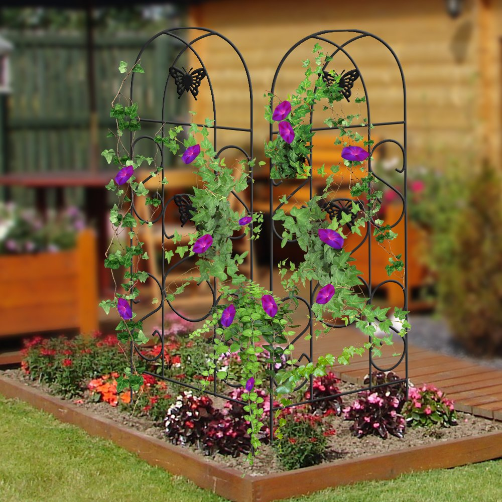 Garden Trellis Climbing Plants Vines Vegetables Metal Wire Lattice ...