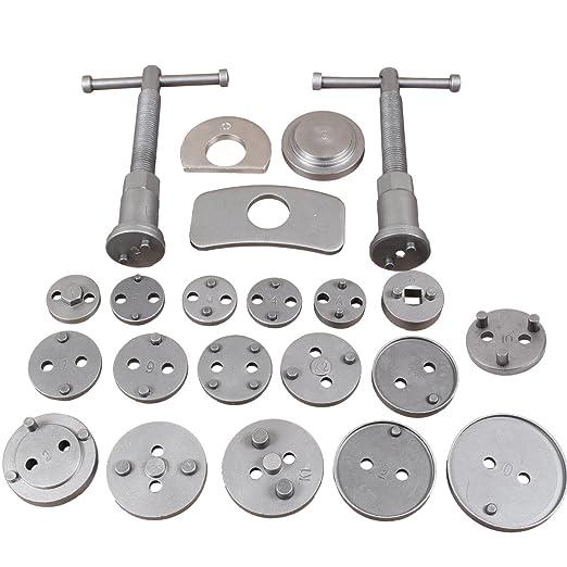 CCLIFE Caja con herramientas para reponer pinzas de freno,set de herramientas para vehículos, 22 piezas, para diferentes marcas,pastillas de freno ...