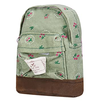 678c54da1e16 Amazon.com: Ecosin Canvas Mini Floral Backpack Women Girls Kids ...