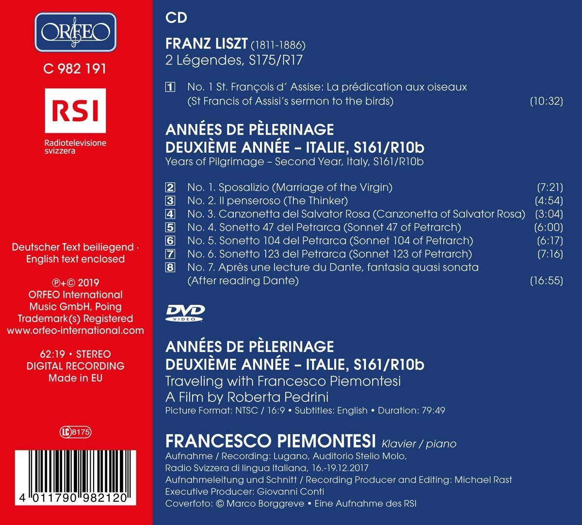 Piano 2/ème Ann/ée-Italie Ann/ées de P/èlerinage