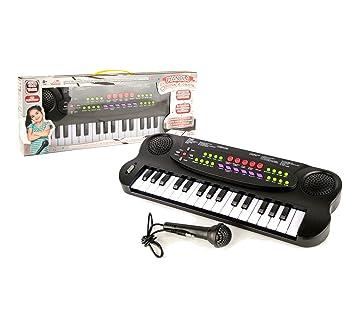 101045 Teclado electrónico de juguete con micrófono 32 teclas y muchas melodías