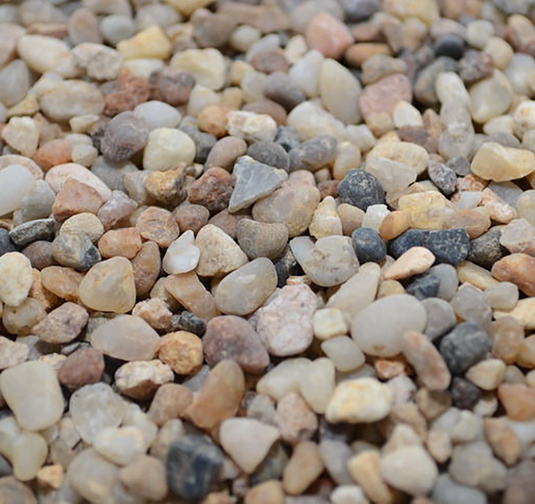 Safe & Non-Toxic {Small Size, 0.11'' to 0.19'' Inch} 30 Pound Bag of Gravel & Pebbles Decor for Freshwater & Saltwater Aquarium w/ Simple Iridescent Natural Sleek Earthy Style [Black, Brown & Tan] by mySimple Products