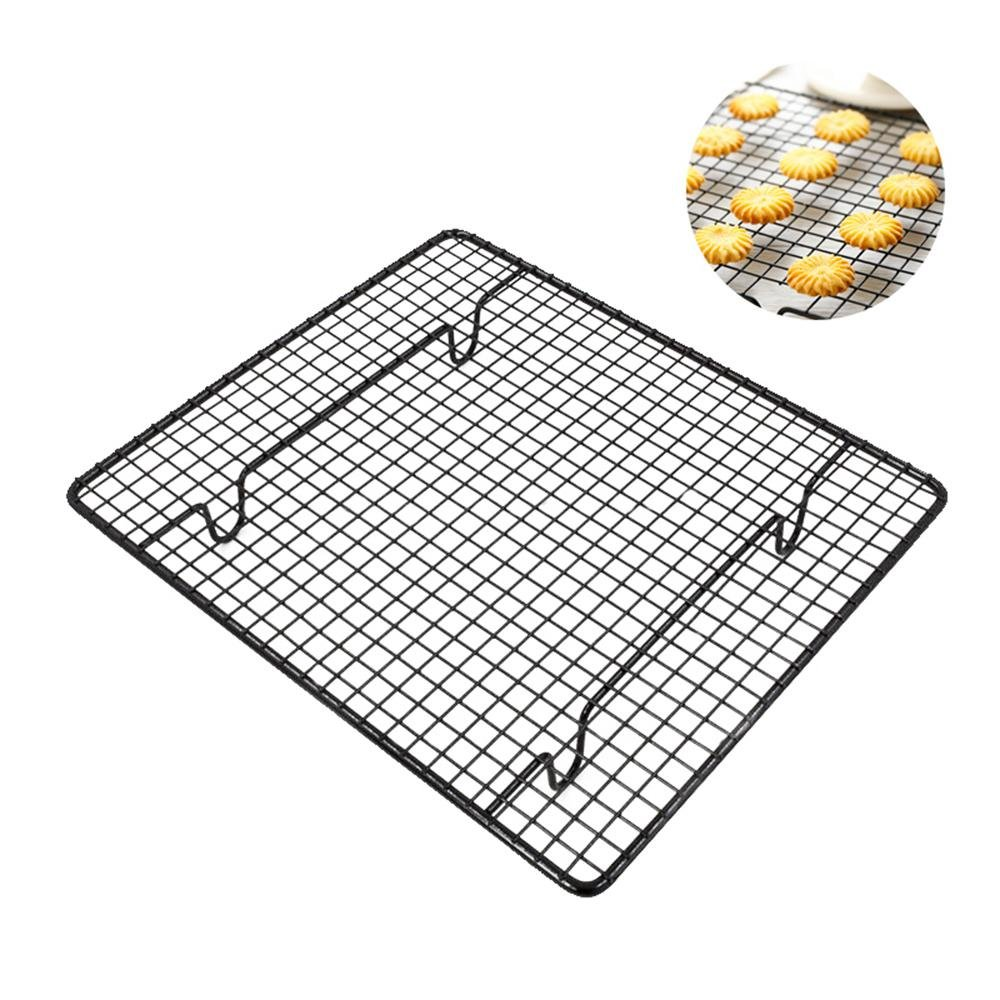 """Aolvo Elevated Cooling Rack, Stainless Steel Baking Cooling Rack for Cookie Cake Non-Stick Oven Safe Heavy Duty Commercial Quality for Roasting, Cooking, Grilling, Drying,10"""" X 9"""" Black"""